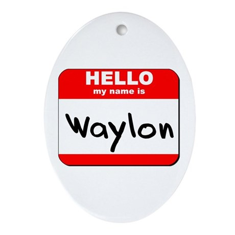 Hello my name is Waylon Oval Ornament