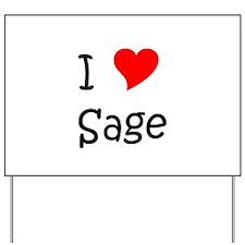 Unique Sage Yard Sign
