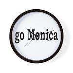 go Monica Wall Clock