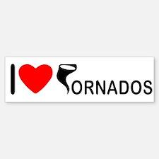 I love Tornados Bumper Bumper Bumper Sticker