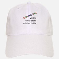 Genealogy Confusion (black) Baseball Baseball Cap