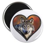 Wolf Heart Magnet