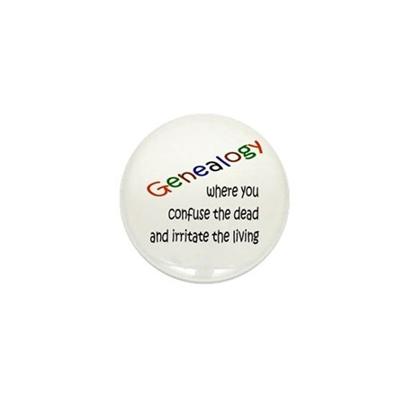Genealogy Confusion (blk) Mini Button (10 pack)