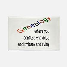 Genealogy Confusion (blk) Rectangle Magnet