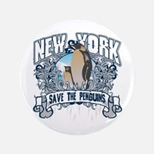 """Save the Penguin New York 3.5"""" Button"""