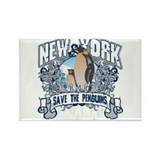 Save the Penguin New York Rectangle Magnet