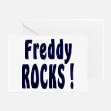 Freddy Rocks ! Greeting Cards (Pk of 10)