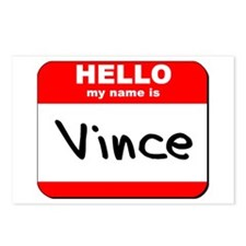 Hello my name is Vince Postcards (Package of 8)