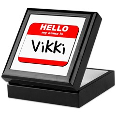 Hello my name is Vikki Keepsake Box