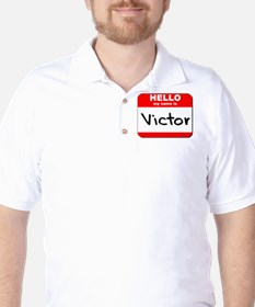 Hello my name is Victor Golf Shirt