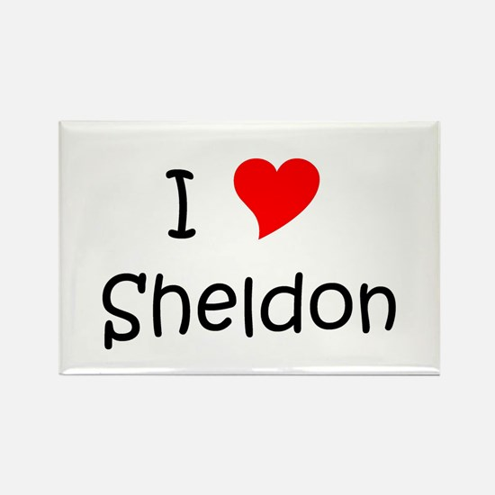 Cute I love sheldon Rectangle Magnet