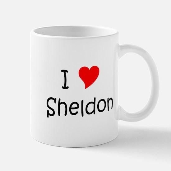 Cute I heart sheldon Mug