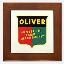 Oliver Tractor Framed Tile