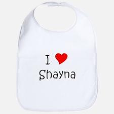 Cute I heart shayna Bib
