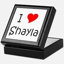 Cute I love shayla Keepsake Box