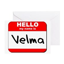 Hello my name is Velma Greeting Card