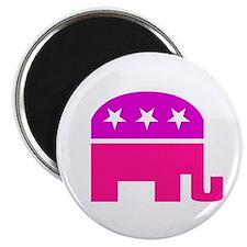 """GOP Pink Elephant 2.25"""" Magnet (10 pack)"""
