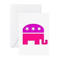 GOP Pink Elephant Greeting Card