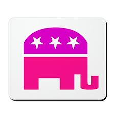 GOP Pink Elephant Mousepad