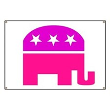 GOP Pink Elephant Banner