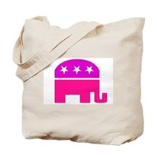 GOP Pink Elephant Tote Bag