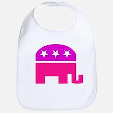 GOP Pink Elephant Bib
