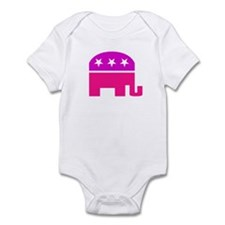 GOP Pink Elephant Infant Bodysuit