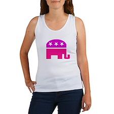 GOP Pink Elephant Women's Tank Top