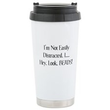 Distracted By Beads Ceramic Travel Mug