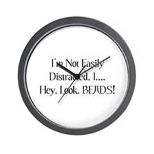 Distracted By Beads Wall Clock