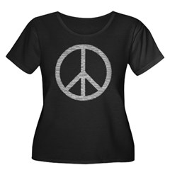 White Peace Sign T