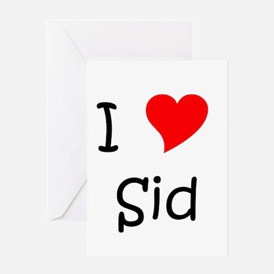 Funny Sid Greeting Card