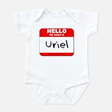 Hello my name is Uriel Infant Bodysuit