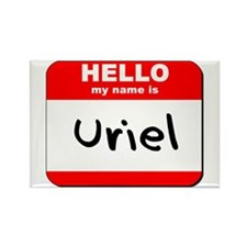 Hello my name is Uriel Rectangle Magnet
