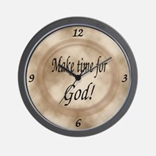 Make Time for God Wall Clock