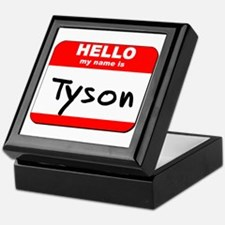 Hello my name is Tyson Keepsake Box