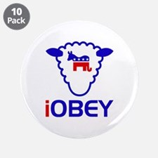 """The Sheeple Obey 3.5"""" Button (10 pack)"""