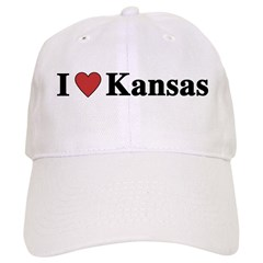 I Love Kansas Baseball Cap