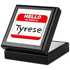 Hello my name is Tyrese Keepsake Box