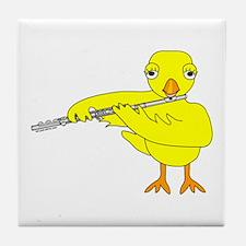 Flute Chick Tile Coaster