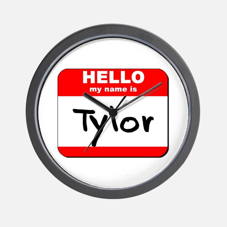 Hello my name is Tylor Wall Clock