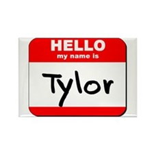 Hello my name is Tylor Rectangle Magnet