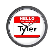 Hello my name is Tyler Wall Clock