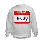 Hello my name is Trudy Kids Sweatshirt