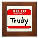 Hello my name is Trudy Framed Tile