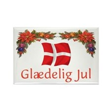 Danish Glaedelig Jul 2 Rectangle Magnet