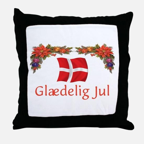 Danish Glaedelig Jul 2 Throw Pillow
