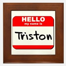 Hello my name is Triston Framed Tile