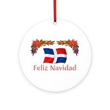 Dominican Feliz Navidad 2 Ornament (Round)