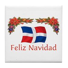 Dominican Feliz Navidad 2 Tile Coaster